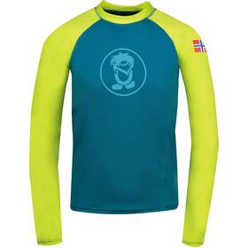TROLLKIDS Kvalvika Shirt Kids, petrol/lime